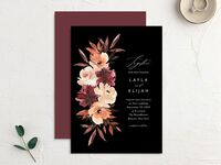 Fall inspired wedding invitation