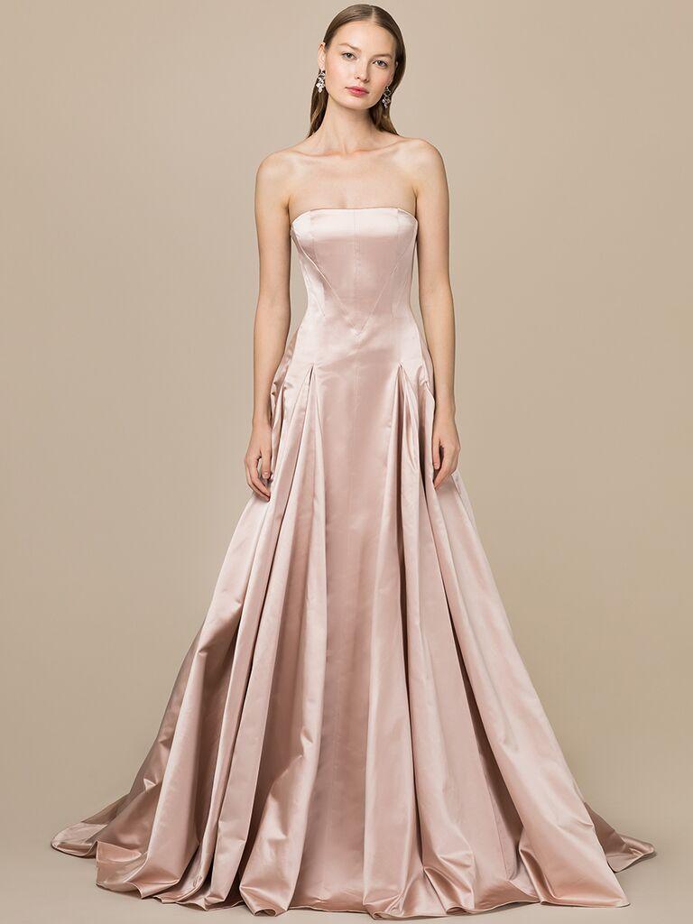 EDEM Demi Couture dusty pink strapless ballgown
