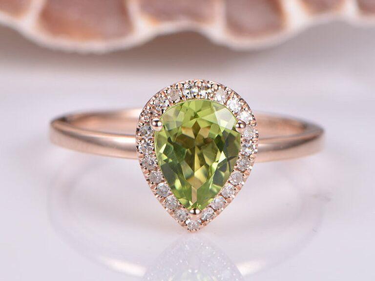 peridot birthstone ring