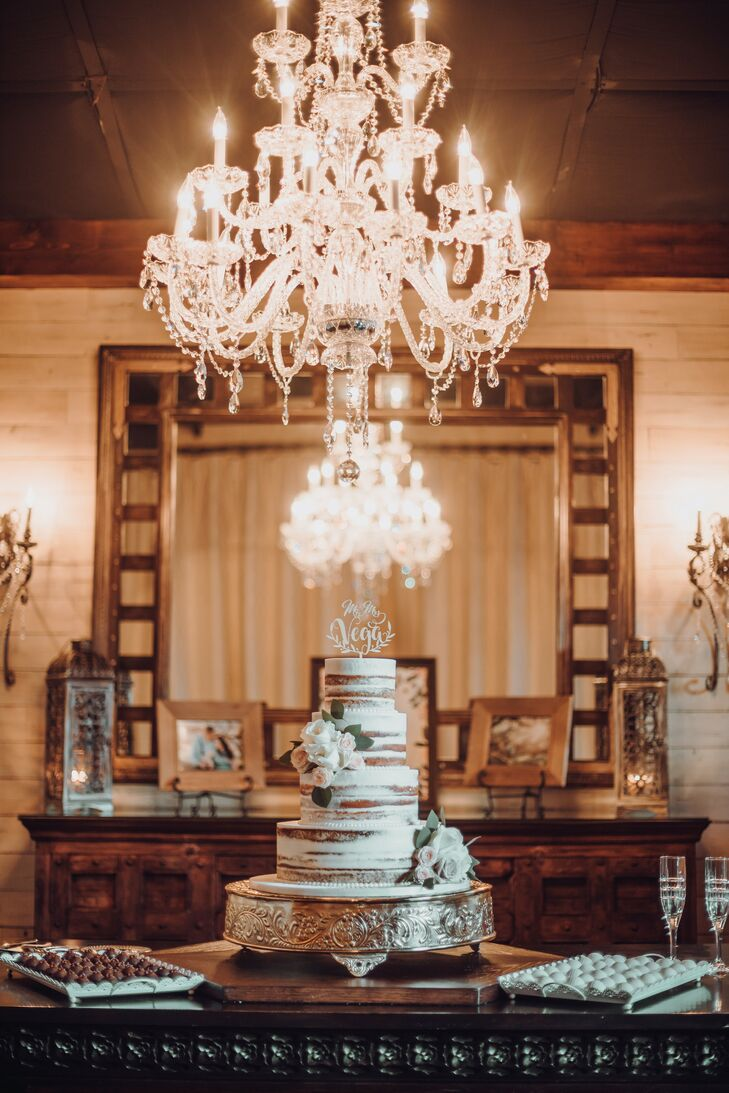 Semi-Naked Cake for Wedding at Madera Estates in Conroe, Texas