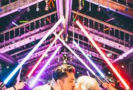 """Self-described nerds who love cosplay, Addie Hassel and James Morrone embraced their offbeat personalities on their wedding day. """"We wanted to have"""