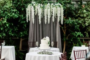 Classic Wedding Cake with Hanging Decorations