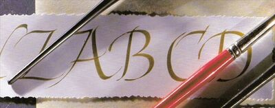 calligraphy, by marcelle