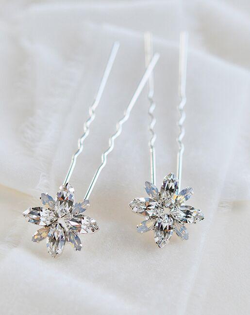 Dareth Colburn Palmer Petite Opal & Crystal Hair Pin (TP-2848) Silver Pins, Combs + Clip