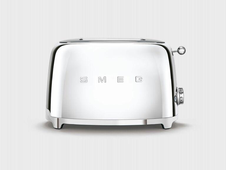 retro silver toaster