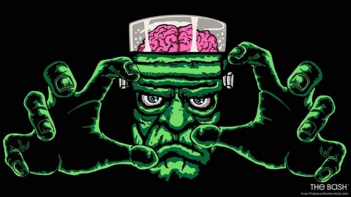 Funny Halloween Zoom Background - Frankenstein's Monster