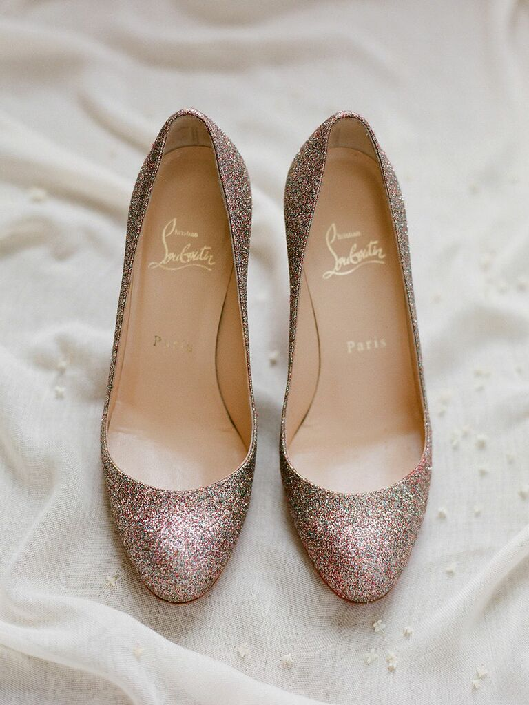 Sparkly wedding shoes pumps