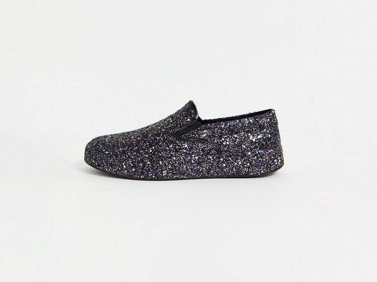 Sparkly men's wedding sneakers