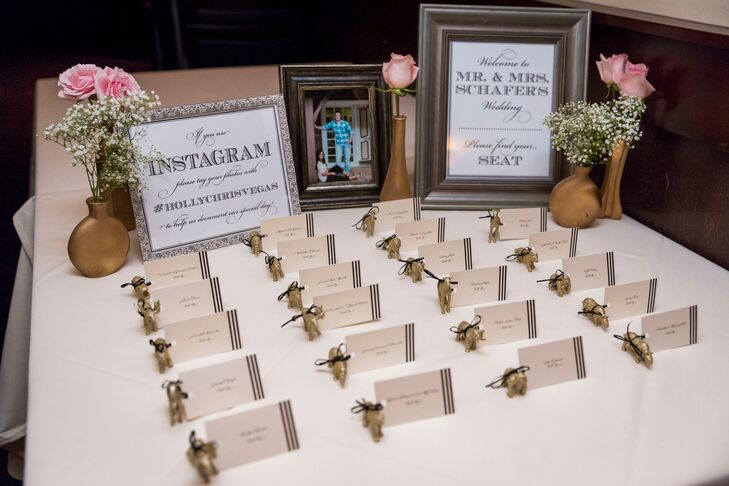 Reception Welcome Table with Statement Frames