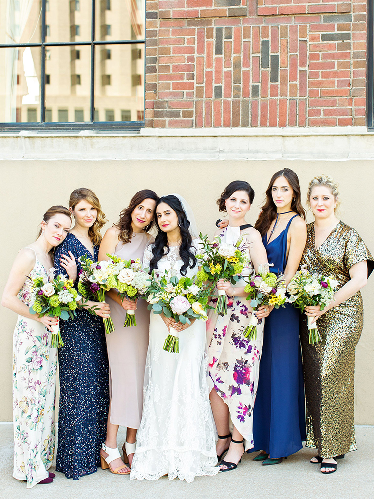 63d34e08c6 These Mismatched Bridesmaid Dresses Are the Hottest Trend