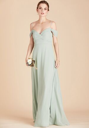 Birdy Grey Spence Convertible Dress in Sage V-Neck Bridesmaid Dress