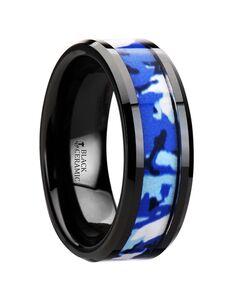 Mens Tungsten Wedding Bands W2943-BCBC Tungsten Wedding Ring