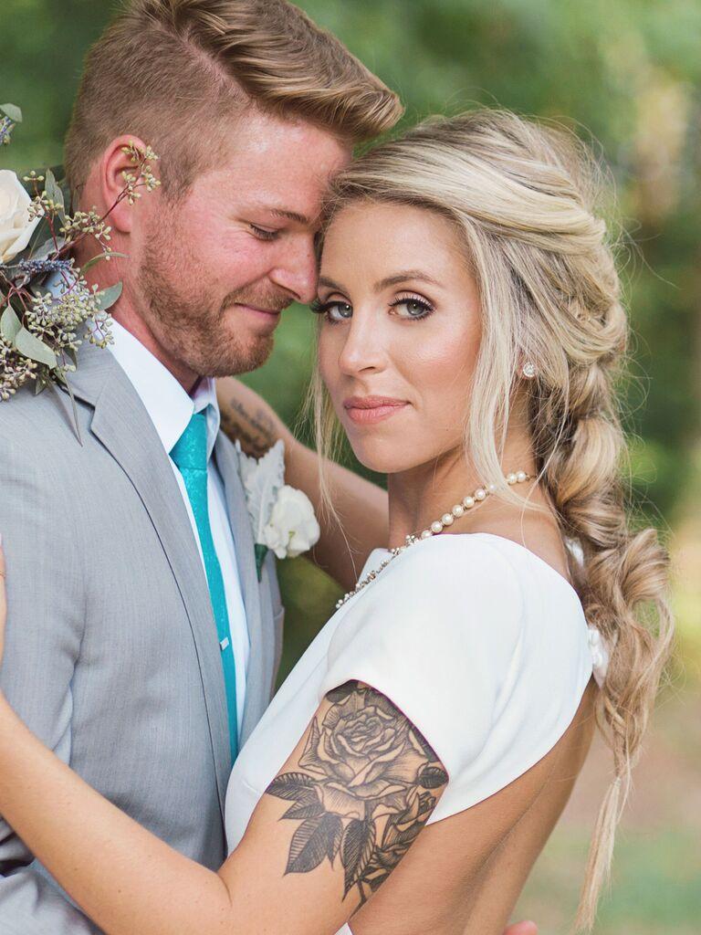wedding braid hairstyles loose Dutch braid
