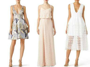We Chose the Perfect Rent the Runway Dresses for All Your Wedding Events