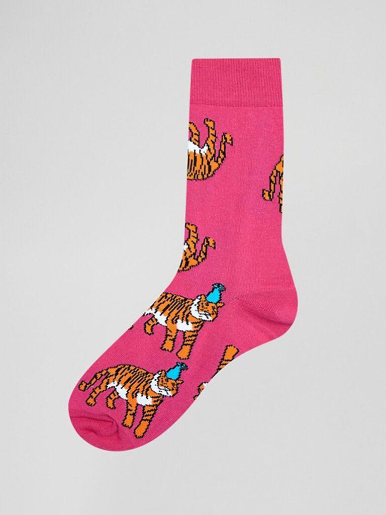 Party animal groom groomsmen socks