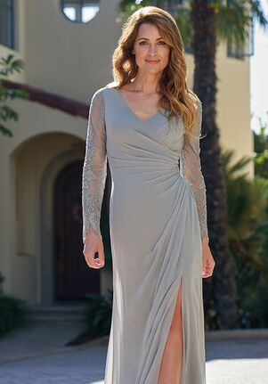 Jade Mother of the Bride by Jasmine J205059 Silver Mother Of The Bride Dress