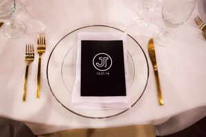 Place Setting with Custom Logo