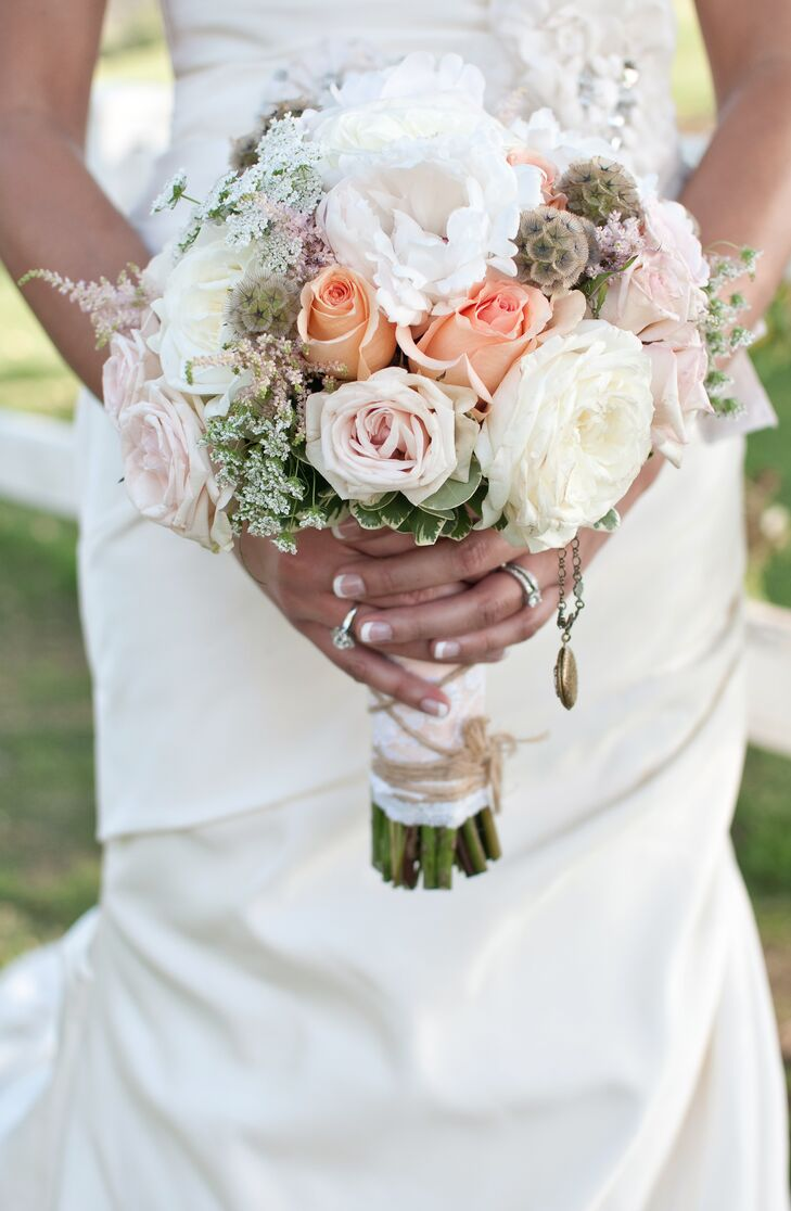 Peony And Rose Wildflower Bouquet