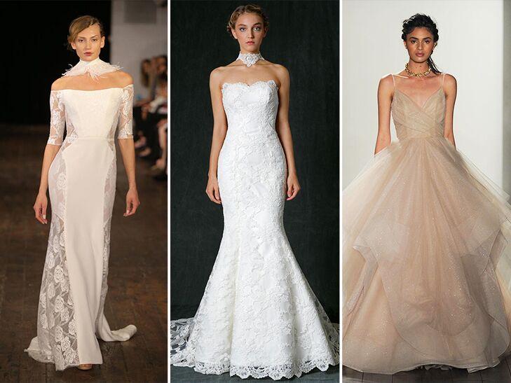 chokers and wedding dresses