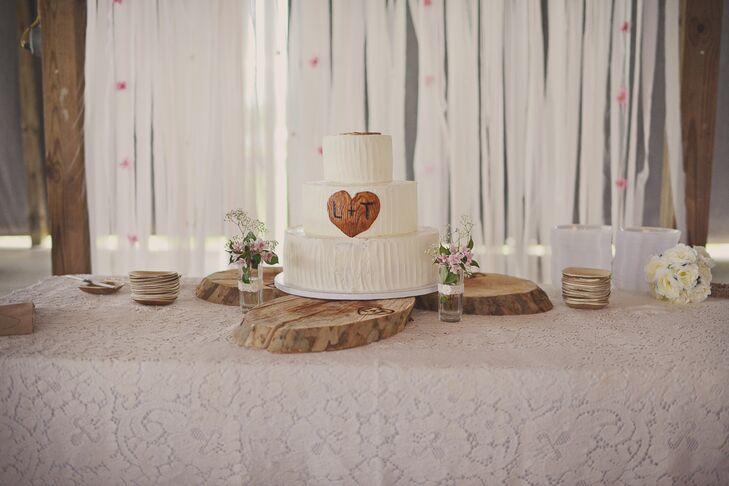 Rustic Buttercream Cake Display