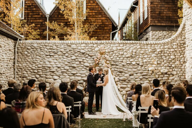 Wedding Ceremony at Surf Hotel in Buena Vista, Colorado