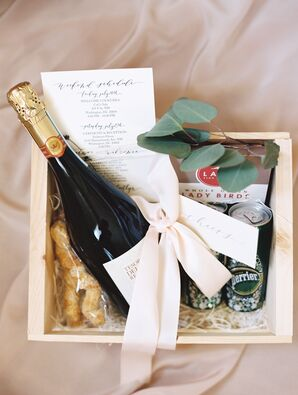 Welcome Basket with Champagne and Snacks
