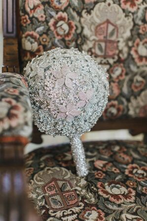 Swarovski Crystal Bouquet with Floral Brooches