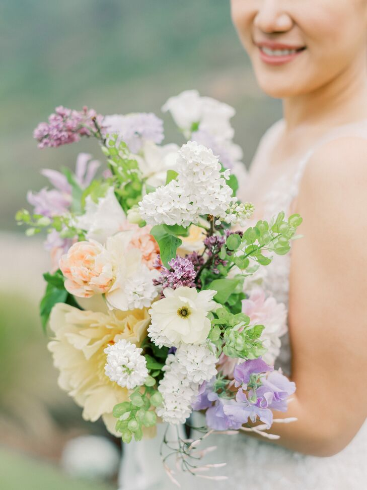 Romantic Spring Bouquet with Pastel Flowers