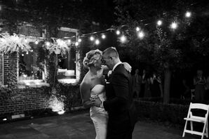 Casual Backyard First Dance with String Lights
