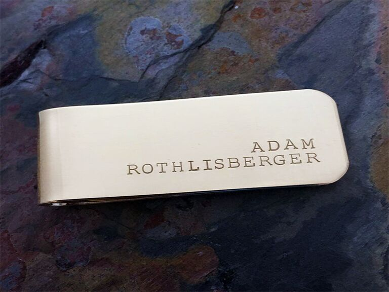321 Simple Creations personalized gold money clip
