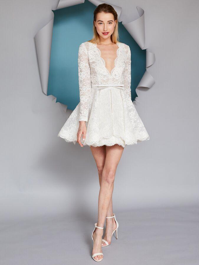 Gracy Accad A-line lace mini dress