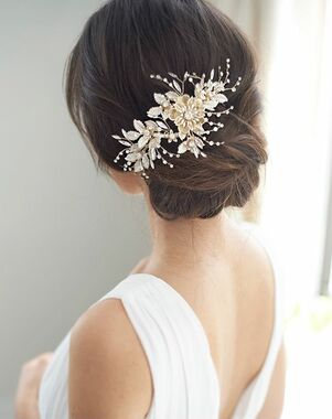 Dareth Colburn Lydia Floral Headpiece (TC-2409) Gold Pins, Combs + Clip