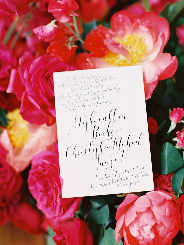 how to choose wedding stationery design simple cursive
