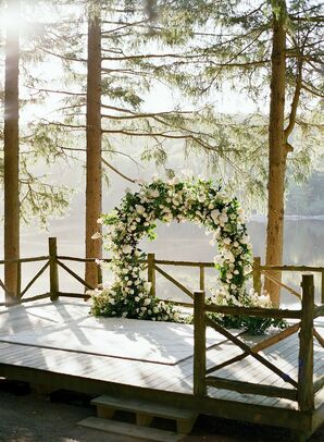Ceremony Arch for Wedding at Cedar Lakes Estate in Port Jervis, New York