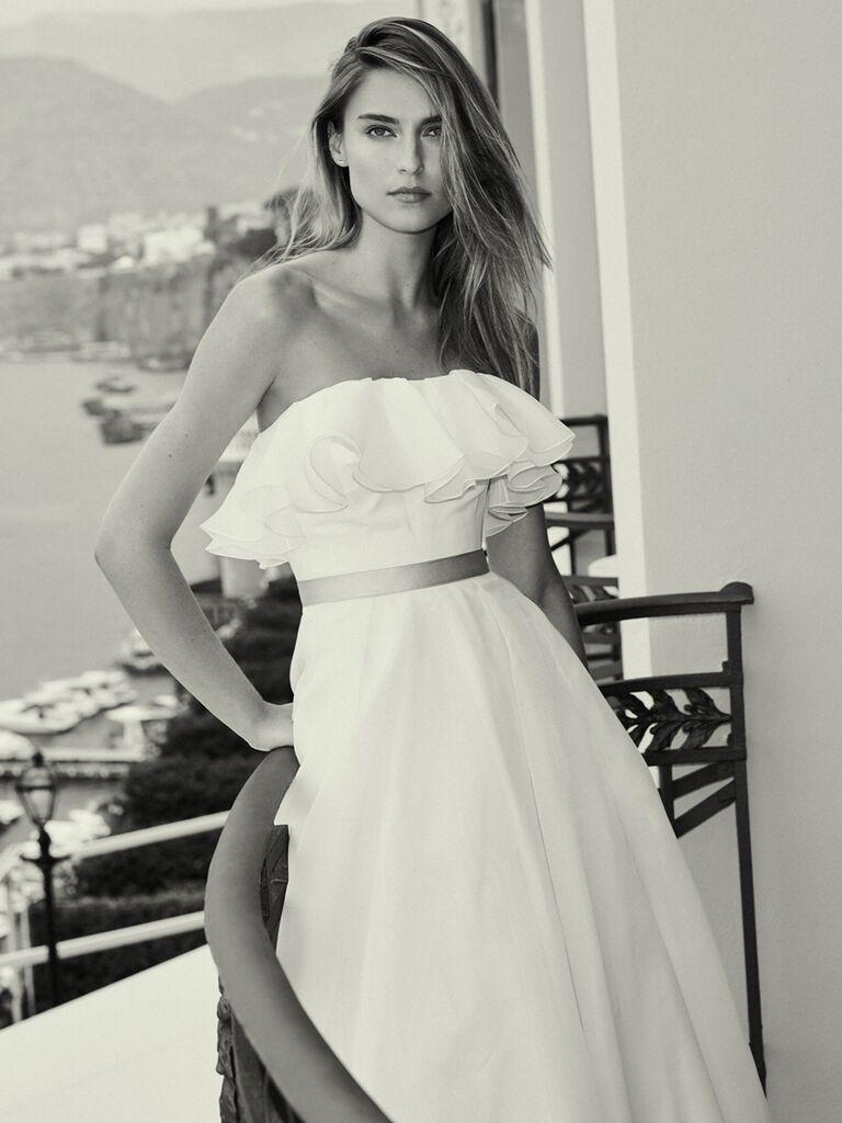 Jenny Packham strapless wedding dress