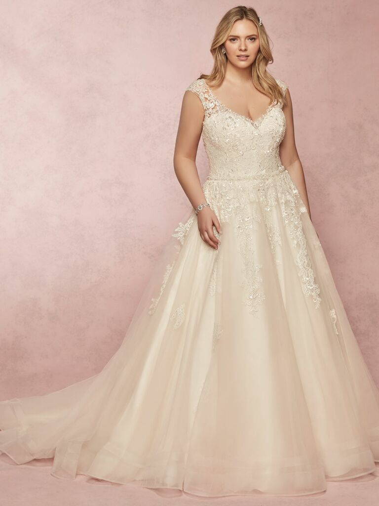 Rebecca Ingram Spring 2019 plus size ball gown wedding dress with beading