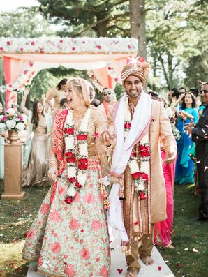 Elegant Indian Ceremony, Peach and Pink Decor