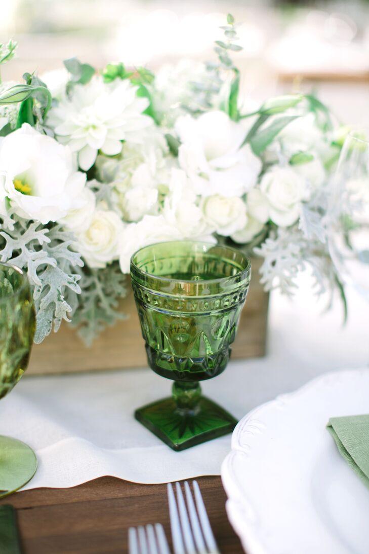 Green Reception Glassware
