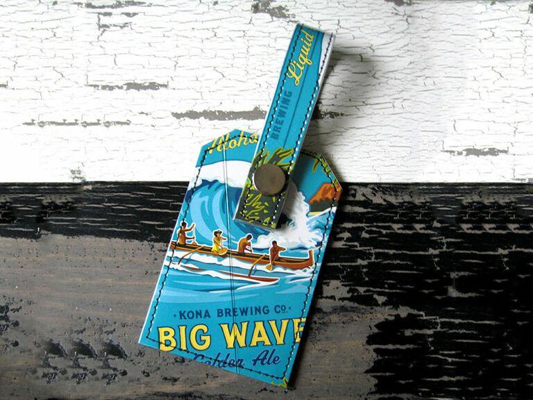 kona wave luggage tag