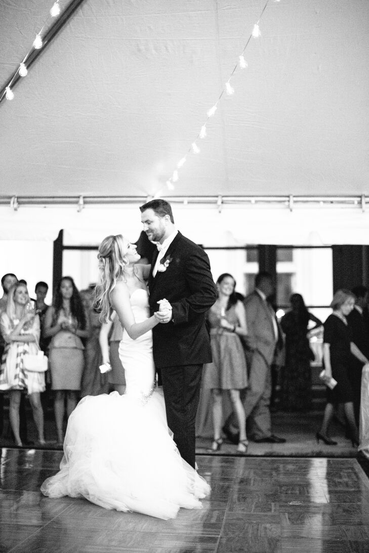 """The bride and groom danced to the Arctic Monkeys' version of """"Baby I'm Yours."""""""