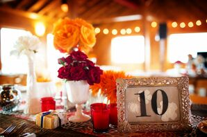 Silver-Framed Table Numbers