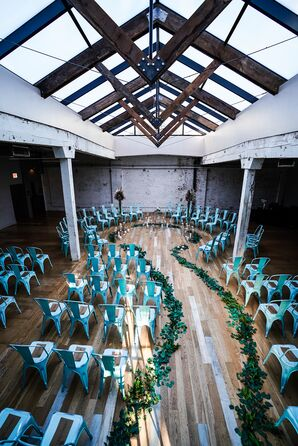 Modern, Industrial Ceremony Site at The Joinery