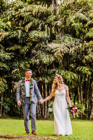 Couple at Stone Crusher Estate in Kapaau, Hawaii