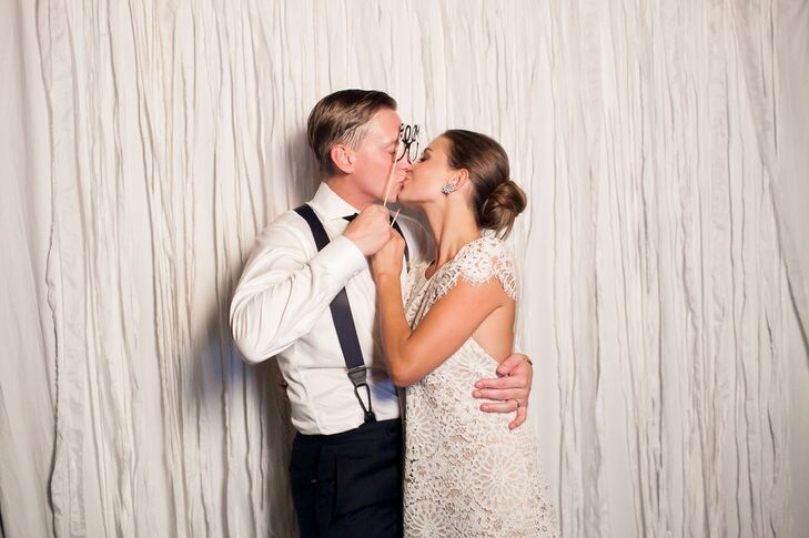 In addition to an 11-piece band that kept the party going late into the night, Rebecca and James had a photo booth at the reception where guests could get silly and strike a pose when they needed to rest their dancing feet.