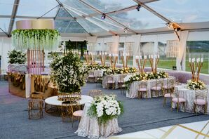 Tented Reception on Governor's Island in New York