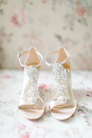 Badgley Mischka Beaded Bridal Sandal