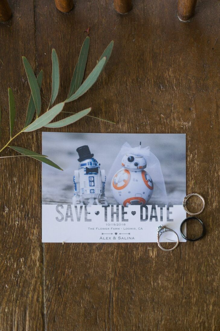 Star Wars-Themed Save-the-Date with R2-D2 and BB-8