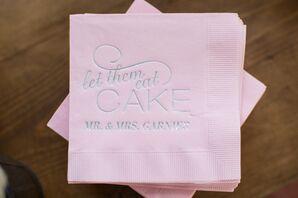 Whimsical Pink Wedding Cake Napkins
