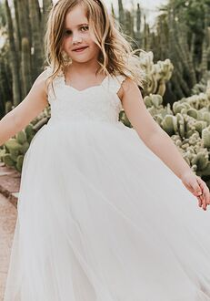FATTIEPIE grace lace Flower Girl Dress