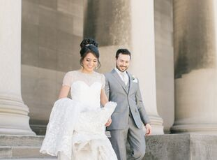 It was love at first sight for Victoria Quimpo (28 and an ob-gyn resident) and Mark Moretti (31 and a wealth planner) when they first saw the Winterga